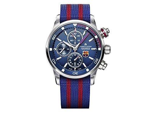 Maurice Lacroix Pontos S FC Barcelona Automatik Uhr, ML 112, Blau, Chronograph