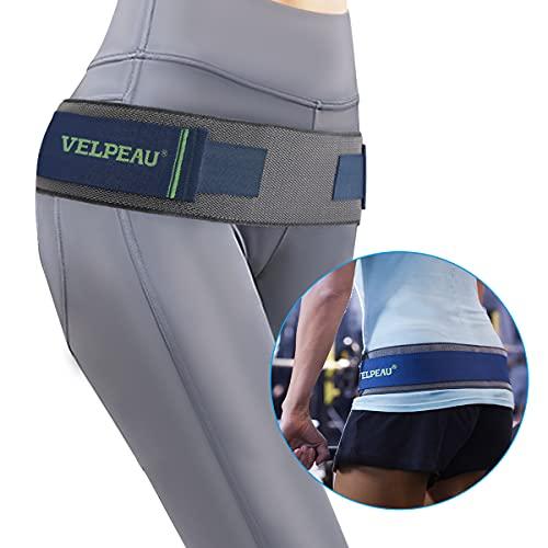 VELPEAU Sacroiliac Belt - Si Belt Support for Lower Back, Si Joint, Pelvic, Hip and Sciatic Pain, Maternity Pregnancy Support Trochanter Belt- Adjustable, Anti-Slip & Pilling-Resistant (Blue, Unisex)