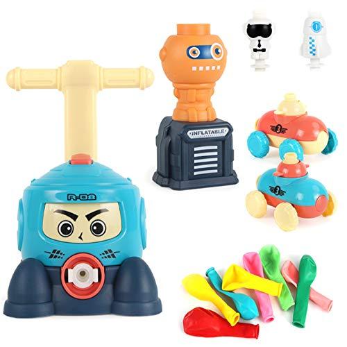 Globo inercial de potencia para coche, inflable con bomba de mano, mini plástico, para experimentos científicos, potencia de vehículos, juguete para niños