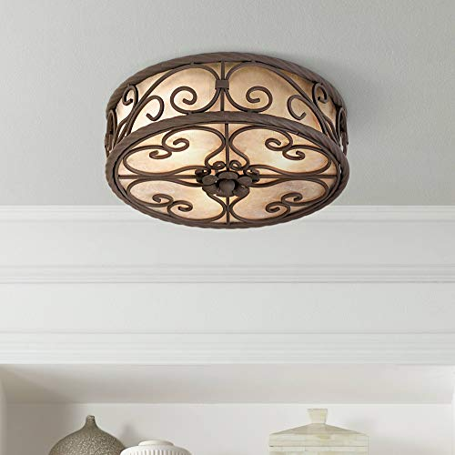 "Natural Mica Collection 12"" Wide Ceiling Light Fixture - John Timberland"