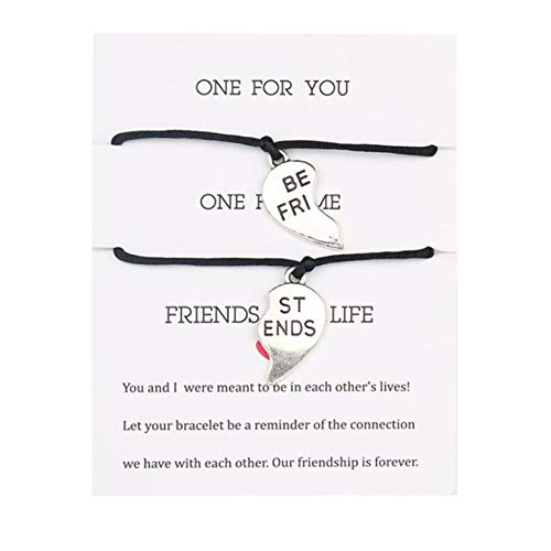 FSXZM Pinky Promise Friendship Bracelets Distance Matching Relationship Bracelets for Daughter Sister Mother Couple Boyfriend Girlfriend,Black