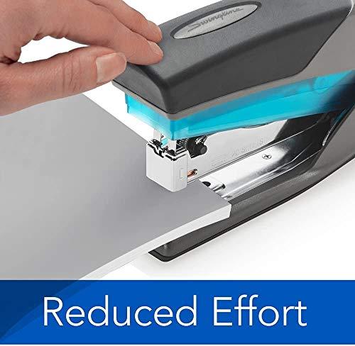 Swingline Stapler, Optima 25, Full Size Desktop Stapler, 25 Sheet Capacity, Reduced Effort, Blue/Gray (66404), SWI66404 - 1 Pack Photo #2