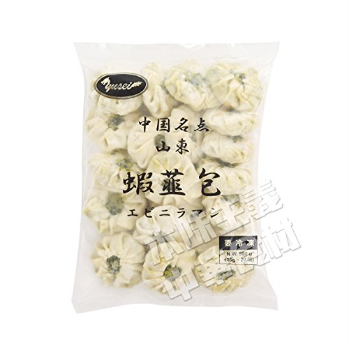 友盛中国名点蝦仁韮菜薄皮包(エビニラまんじゅう) 500g お得!中華料理人気商品・中国名物