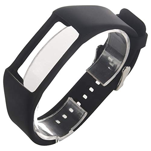 Lenere Silicone Watchband for Polar A360 A370 Wristband Silicone Wriststrap Bracelet Replacement for Polar Fitness Tracker Black