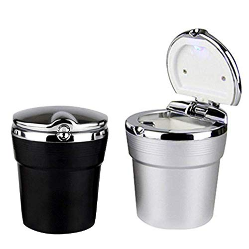 Posa Cenere Auto, 2 pezzi Auto Posacenere,Auto Sigaretta Posacenere Posacenere Portatile Sigaretta con la Luce Blu Del LED Holder Senza Fumo Cup