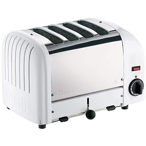 Dualit Edelstahl-Toaster, 4 Scheiben weiß