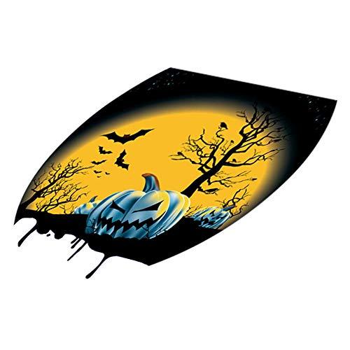 Pegatinas De Pared Jhping Funny Wc Sticker Wc Sticker Decoración De Halloween Pegatinas De Asiento De Inodoro @F_Estados Unidos