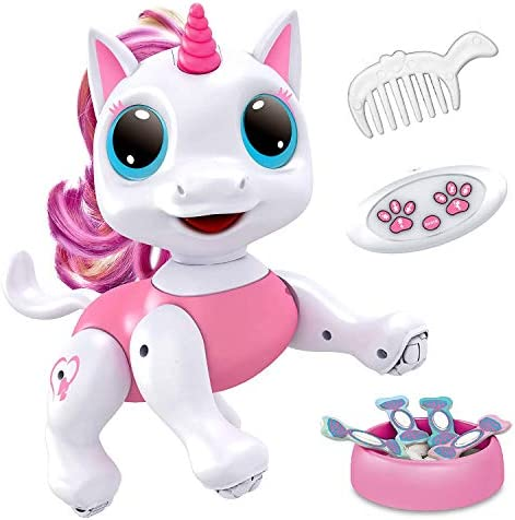 Power Your Fun Robo Pets Unicorn Toy for Girls and Boys Remote Control Robot Pet Toy with Interactive product image
