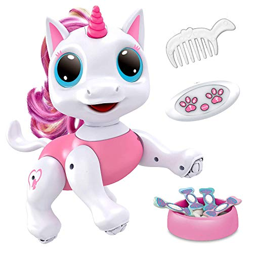 Image of the Power Your Fun Robo Pets Unicorn Toy - Remote Control Robot Pet Toy, Interactive Hand Motion Gestures, Walking, and Dancing Robot Unicorn Toy