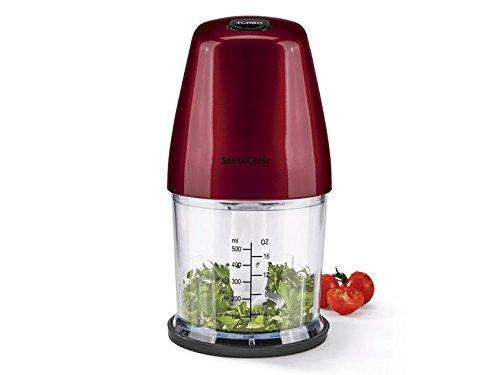 SILVERCREST Picadora de Cocina, Pica Hielo, Verduras, Frutas, Frutos Secos, etc (Rojo): Amazon.es