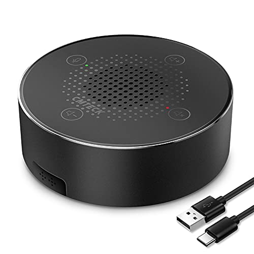 best speakerphone in 2021 for working from home USB Microphone Speakers, CMTECK ZM330 Speakerphone - Omnidirectional Desktop Computer Conference Mic with 360 degrees Voice Pickup, Mute Function for Streaming, VoIP Calls, Skype, Interviews, Chatting