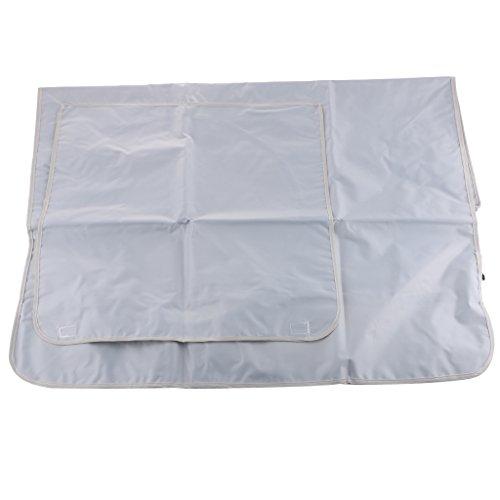 Klimaanlage Staubdichte Waschbare Abdeckung Schutzhülle Cover - Silber-Grau, 78x55x28cm