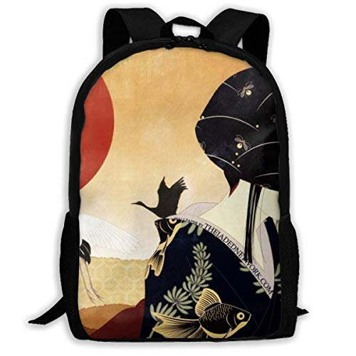 sghshsgh Rucksack für Hochschule Red-Crowned Crane Art School Bookbag Oxford Casual Travel Rucksack for Adult Womens Mens Multipurpose Shoulders Bag Gift