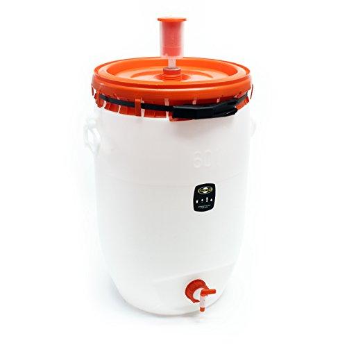Speidel Getränkefass Mostfass ca 60 L PE-Kunststoff lebensmittelecht mit Ablasshahn und Zubehör