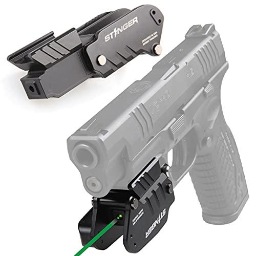 Stinger HL-G Minimalist Holster & Rechargeable Green Laser Sight for Pistol, Laser Sights For Handguns, Green Dot Sight, Pistol Sight, Green Laser for Pistol, Trigger Guard (Green Laser, Right Hand)