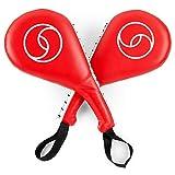 Juvale Taekwondo Kick Pad, Striking Pads (Red, 15 x 2.5 x 7.5 in, 2 Pack)