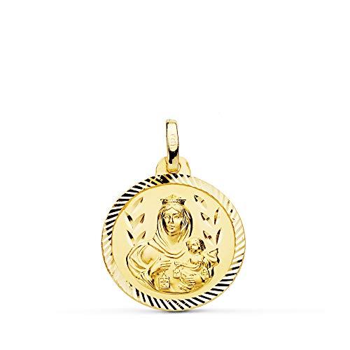 Medalla Escapulario V. Carmen y C. Jesús Oro 18 Kilates Hélice 18mm