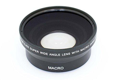 vhbw Weitwinkel Vorsatzlinse Objektivgewinde 62mm, Faktor 0,45x passend für Kamera Panasonic Lumix G Vario HD 14-140 mm 4-5.8 Asph OIS.