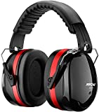 Mpow 056BR Gehörschutz Kind und Erwachsene mit SNR 34dB, Größenverstellbare Ohrenschützer mit Faltbarer Kopfbügel für Lärm bis 98dB, Lärmschutz Kopfhörer für Gehörschutz Schiessen, Gartenarbeit - Rot