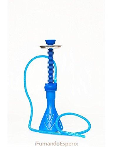 FumandoEspero Shisha - Cachimba de Silicona (50 cm) - Color: Azul