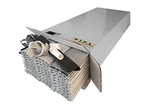 KIT TAPPARELLA IN PVC 4 KG AL MQ - L123xH160cm BIANCO 18… (L 123 X H 160 CM, PVC18 BIANCO SIMIL RAL 9003)