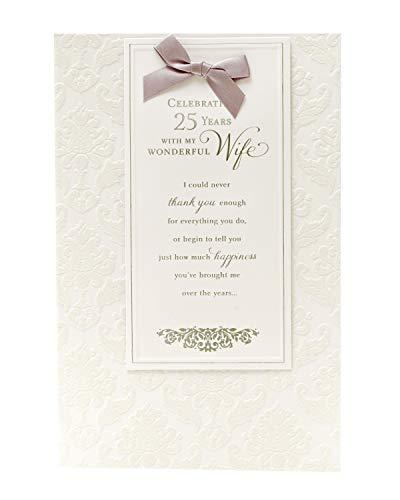 25e bruiloft verjaardag kaart vrouw - zilver bruiloft verjaardag kaart vrouw - ideale cadeaubon voor bruiloft - 25e verjaardag - zilver verjaardag geschenken - vrouw verjaardag kaart 25-25 jaar