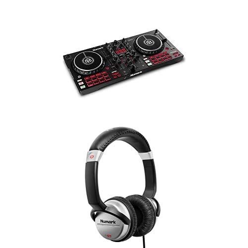 Numark Mixtrack Pro FX + Numark HF125 – 2 Deck DJ-Controller für Serato DJ mit DJ-Mixer + professioneller DJ Kopfhörer mit 2m Kabel und 40 mm Lautsprechern