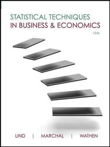 Statistical Techniques in Business and Economics (Mcgraw-hill/Irwin Series Operations and Decision Sciences)