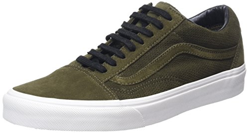 Vans Old Skool, Zapatillas Unisex Adulto, Verde (Perf Suede Tarmac/True White), 36 EU