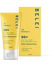 Belei - Zonnebrandcrème voor het gezicht, SPF 50+, UVA/UVB, anti-veroudering, 50 ml