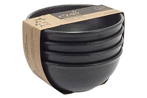 EVO Sustainable Goods - Juego de cuencos (473 ml), color negro