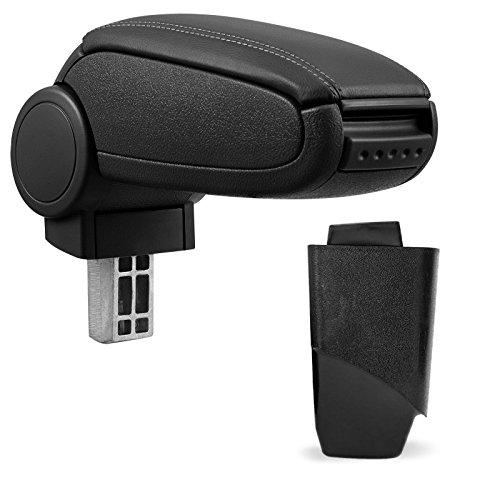 Mittelarmlehne / Mittel-Armlehne mit klappbarem staufach / Mittel-konsole Fahrzeugspezifisch (Farbe: SCHWARZ)