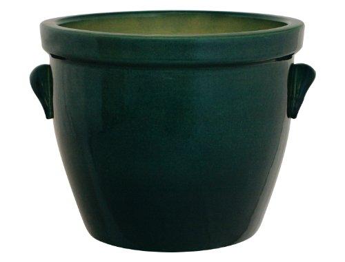 Pot de fleurs/Cache-Pot-Venus II avec Poignée 50 x 40 CM (Vert/en céramique Brillant)