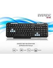 Everest KB-700 Siyah USB Q Multimedia Klavye