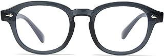 BOZEVON Women Glasses - Lightweight Round Black Frame Classic Vintage Clear Lenses Non Prescription Retro Glasses Ladies Men Fashion Accessories Eyewear