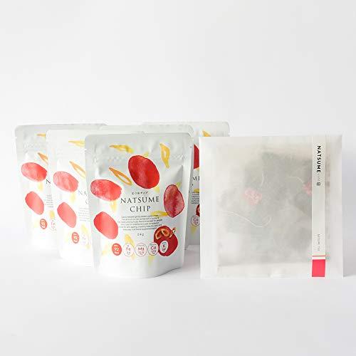 [なつめいろ]なつめチップ(24g)5個・なつめのお茶(3g×10個入り)セット 国産なつめ茶 ノンフライ 無添加 フリーズドライ