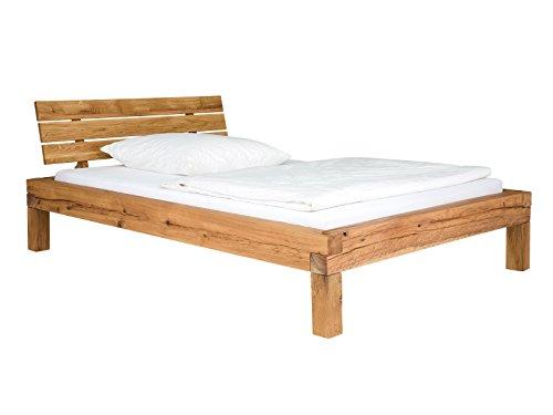 massivum Bett Corsica 180x200 Wildeiche geölt, Holz, Natur, 220 x 200 x 86 cm