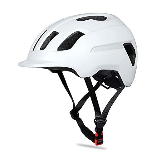 SCDJK Unisex Ultralight MTB Bike Reflective Casco Montaña Ciclismo Casco De Seguridad Casco Utilidad OT(Color:Blanco)