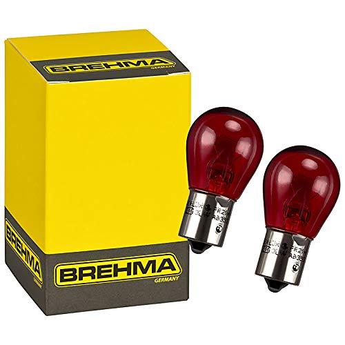 2er Set Rote Bremslicht Lampe 90040 PR21W BAW15s 12V 21W