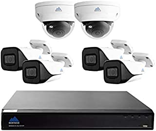 4K Security System with 6 4K Cameras, IP PoE, 8 Channel 2TB NVR, 112º FOV, 200ft IR Night Vision, Free Mobile Viewing-Phones, Tablets, Computers, 2 Year Warranty - MTIP808244KBP24KDP