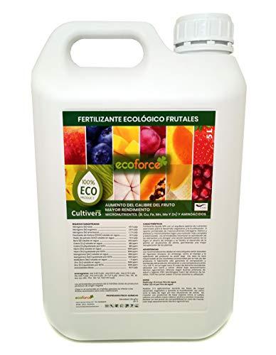 CULTIVERS Fertilizante Ecológico para Frutales Líquido de 5 L. Intensifica el Sabor...