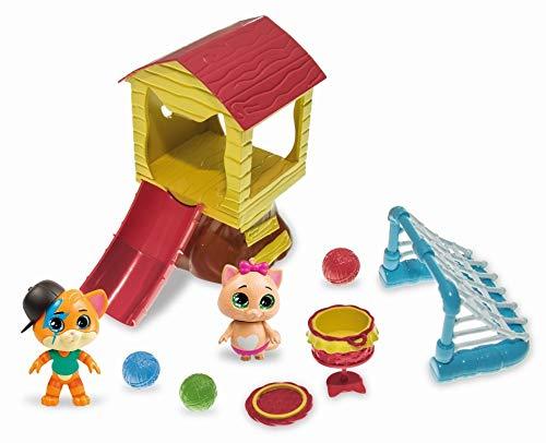 44 Gatos-Smoby Playset Casa del Árbol con Figuras de Lampo y Pilou de 8cm 180231