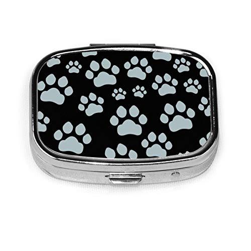 Cut Paw Cat Custom Fashion Silver Square Pill Box Medicine Tablet Holder Wallet Organizer Case For Pocket Or Purse Vitamin Organizer Holder Decorative Box