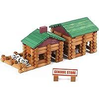Wondertoys 170-Pieces Wood Classic Building Log Toys Set for Boy