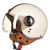 Casco de moto para mujer Chopper 3/4 Casco vintage de cara abierta Moto Casque Casco Capacete Hombres Scooter Casco de moto Cascos para niñas