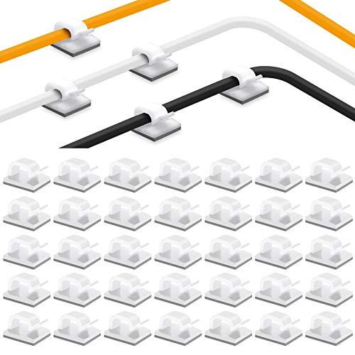 ケーブルクリップ 35pack コードクリップ ケーブルホルダー コードフック 配線 収納 接着ワイヤーコード 粘...