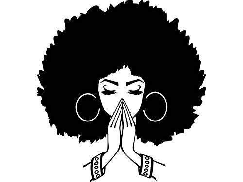 Yetta Quiller Black Women Praying Nubian Princess Queen Afro Hair Beautiful African Female Lady Vector Clipart Digital Circuit Vinyl Wall Decor Cutting