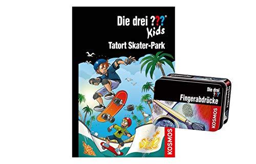 Franckh-Kosmos Verlag Die DREI ??? Kids, 84, Tatort Skater-Park (Gebundene Ausgabe) + Forscherkästchen (Verschiedene Auswahl)