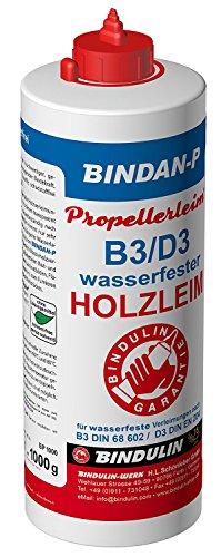 Holzleim wasserfest, Bindan Propeller Leim 1.000 gr. inkl. 1 Leimspachtel