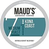 Maud's Kona Coffee Blend (Kona Coast), 100ct. Solar Energy Produced Recyclable Single Serve Medium Dark Roast Kona Coffee Pods – 100% Arabica Coffee California Roasted, Kona K Cup Compatible